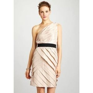 Adrianna Papell Tiered One Shoulder Cocktail Dress